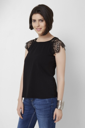 ONLY Solid Round Neck Top