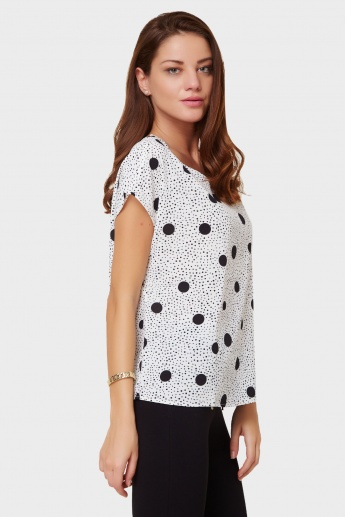ONLY Polka Dot Print Top