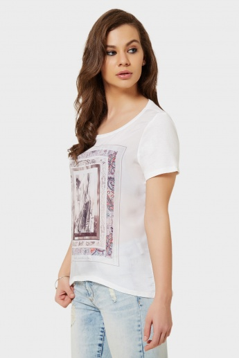 ONLY Graphic Print Top