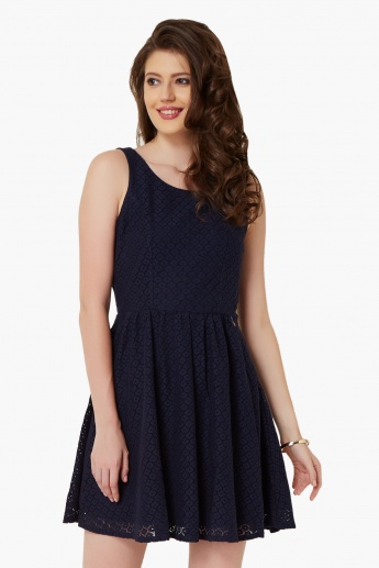 ONLY Cut-Out Back Skater Dress