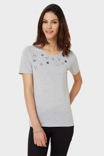 ONLY Crystal Studs T-Shirt