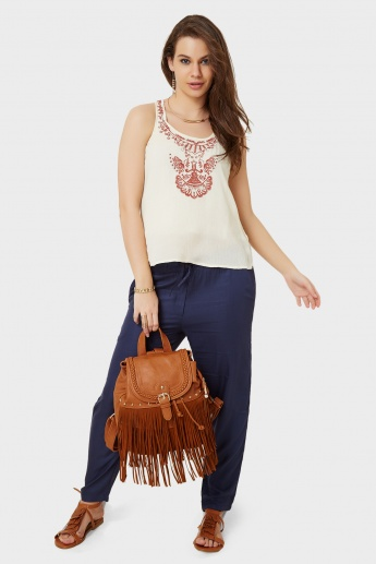 ONLY Sleeveless Embroidered Top