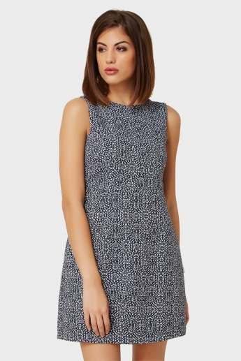 ONLY Sleeveless Printed Flared Dress