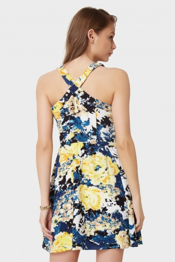 ONLY Tropical Hues Skater Dress
