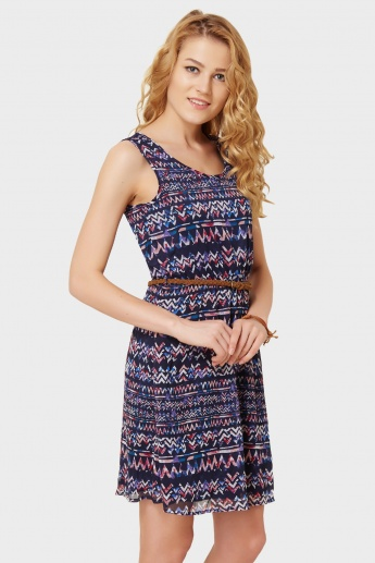ONLY Printed Belted Dress