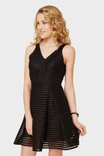 ONLY Mesh Muse Skater Dress