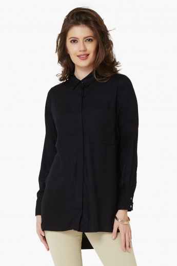 ONLY Solid High-Low Shirt