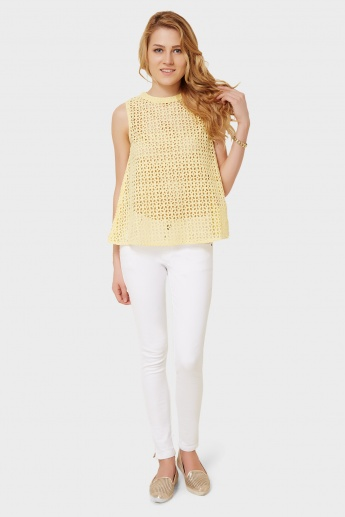 ONLY Sleeveless Solid Hakoba Top