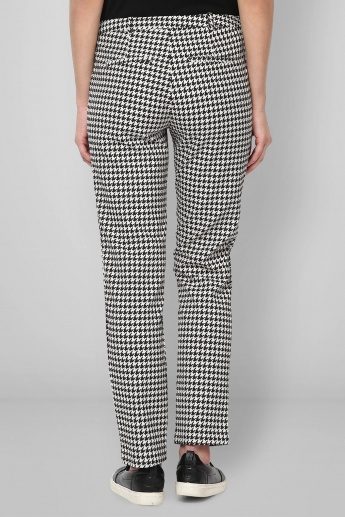 UNITED COLORS OF BENETTON Houndstooth Print Pants