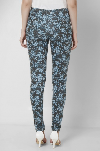 AND Floral Print Full Length Skinny Pants