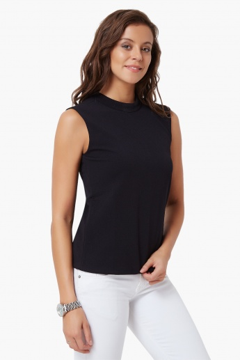 UNITED COLORS OF BENETTON Turtle Neck Sleeveless Top