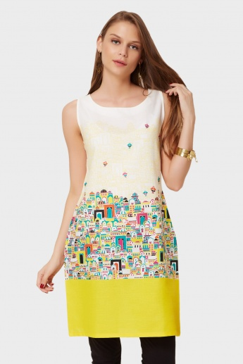 W Plentiful Doors Printed Kurti