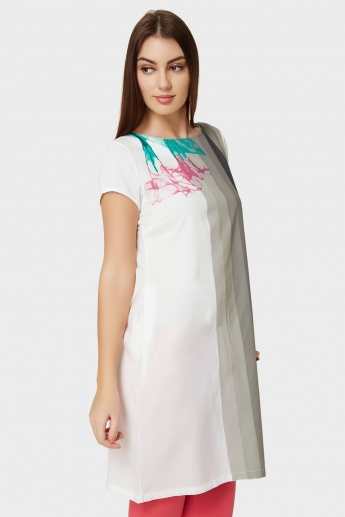 W Watercolour Printed Kurti