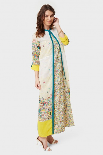 W Printed Long Layered Kurta