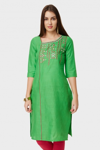 AURELIA Embroidered Straight Kurti