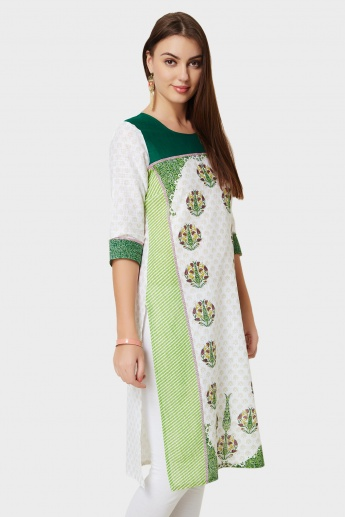 AURELIA Printed Straight Cut Kurti