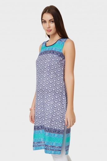 AURELIA Printed Sleeveless Kurta