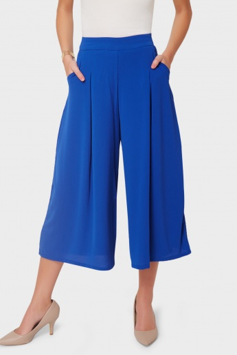 AND Solid Pocketed Culottes
