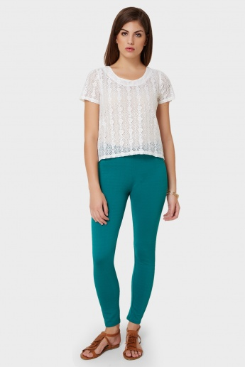 UNITED COLORS OF BENETTON Solid Skinny Fit Leggings