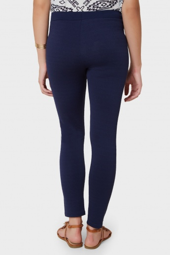 UNITED COLORS OF BENETTON Textured Elasticated Waist Leggings