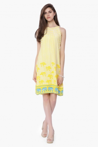 GLOBAL DESI Striped Shift Dress