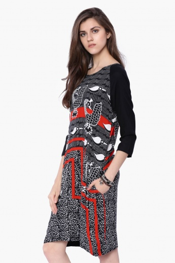 312693d2b567 GLOBAL DESI Printed Dress with Pockets