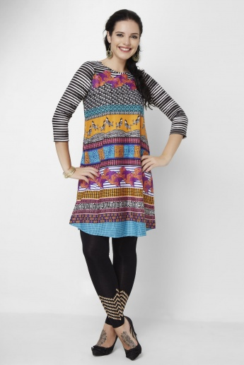 GLOBAL DESI Printed Round Kurta