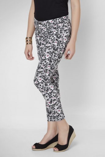 BOSSINI Floral Printed Ankle Length Pants