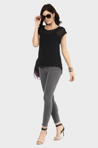 GINGER Solid Plain Jane Top