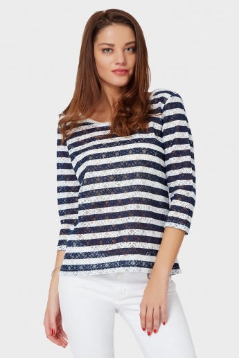 BOSSINI Striped Drizzle Top