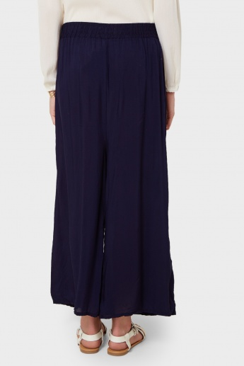 GINGER Solid Palazzo Pants