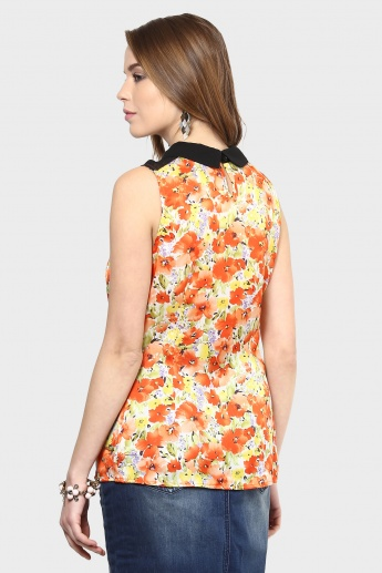 GINGER Sleeveless Floral Print Top