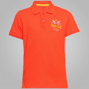JUNIORS Pique Polo Neck T-Shirt