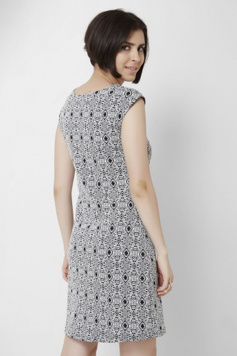 AND Mazy Printed Round Neck Dress