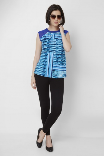 AND Printed Cap Sleeves Top