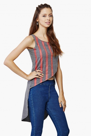 GLOBAL DESI High Low Knit Top