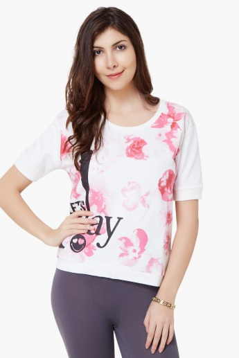 SMILEY Blotchy Florals Sweatshirt