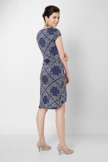 BOSSINI Paisley Printed Knitted Dress