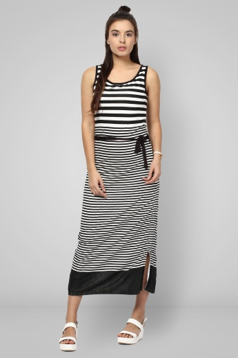 BOSSINI Striped Maxi Dress