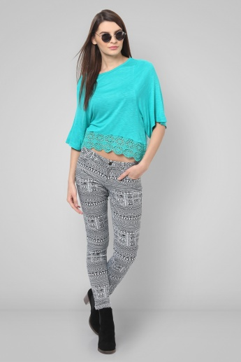 BOSSINI Printed Ankle Length Pants