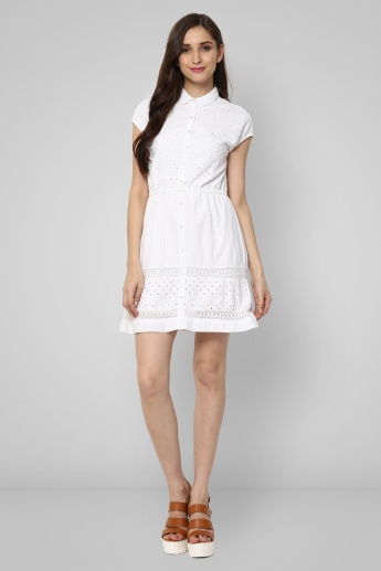 BOSSINI Eyelet Lace Shirt Dress