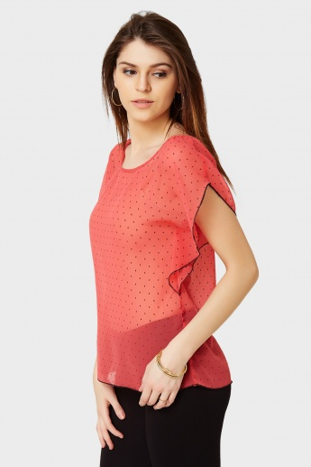 BOSSINI Polka Ruffles Top