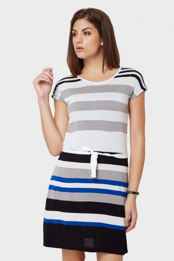 BOSSINI Striped Summer T-Shirt Dress