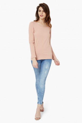 BOSSINI Solid Full Sleeves Top