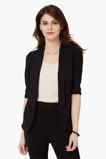 BOSSINI Solid Lapel Collar Jacket