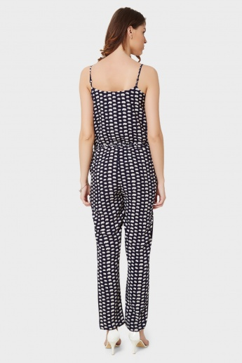 BOSSINI Elephant Print Strappy Jumpsuit