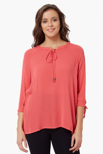 BOSSINI Boho Tie-Up Top