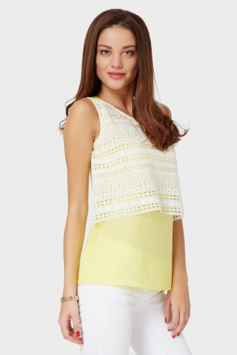 109F Layered Sleeveless Blouse