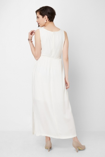 CODE Lacy Shoulder Maxi Dress
