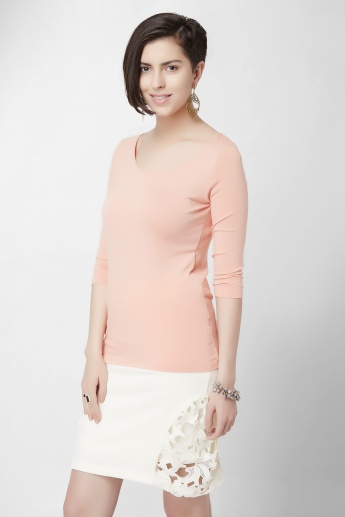 CODE Scoop Neck Solid Top